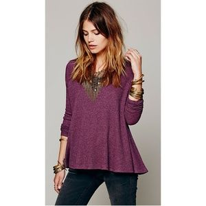 Free People Rockabilly Raglan Solid Thermal Top M